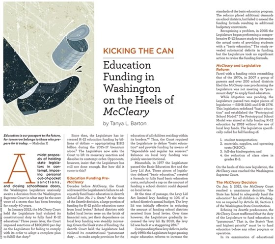 McCleary Article Image